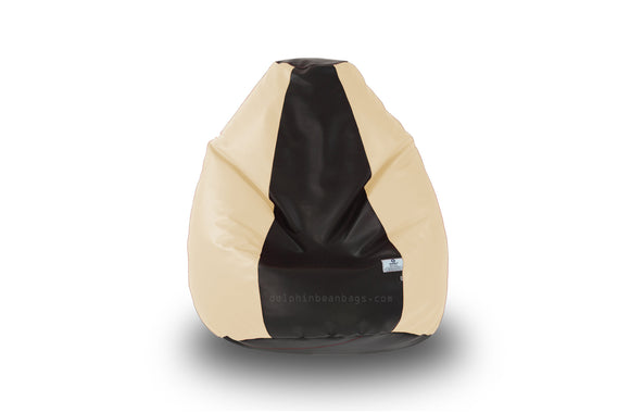 DOLPHIN L Black/Fawn BEAN BAG-FILLED(With Beans)