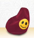 DOLPHIN XL Bean Bag Maroon-Smiley-FILLED (with Beans)
