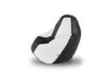 DOLPHIN L BEAN BAG-Black/White-COVER (Without Beans)