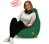 DOLPHIN XL BEAN BAG-Bottle Green-COVER (Without Beans)