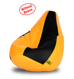 DOLPHIN XL BLACK&YELLOW BEAN BAG-COVERS(Without Beans)