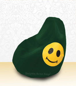 DOLPHIN XL Bean Bag B.Green-Smiley-FILLED (with Beans)