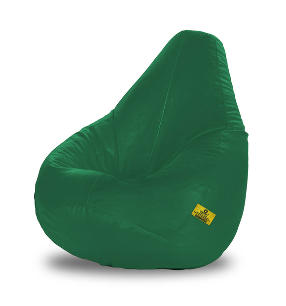 DOLPHIN XL BEAN BAG-Bottle Green (With Beans)
