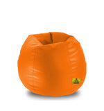 DOLPHIN XL BEAN BAG-Orange - Filled (With Beans)