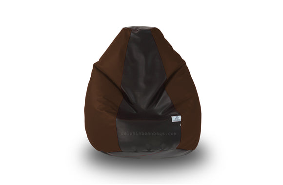 DOLPHIN Original M BEAN BAG-Black/Brown-With Fillers/Beans