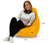 DOLPHIN XL BEAN BAG-YELLOW - FILLED (With Beans)
