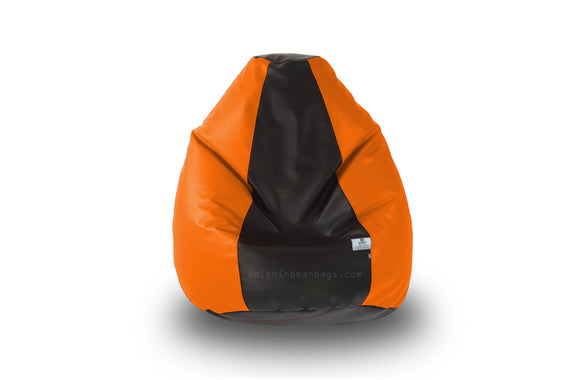 DOLPHIN Original S BEAN BAG-Black/Orange-With Fillers/Beans