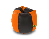 DOLPHIN XL BLACK&ORANGE BEAN BAG-FILLED(With Beans)