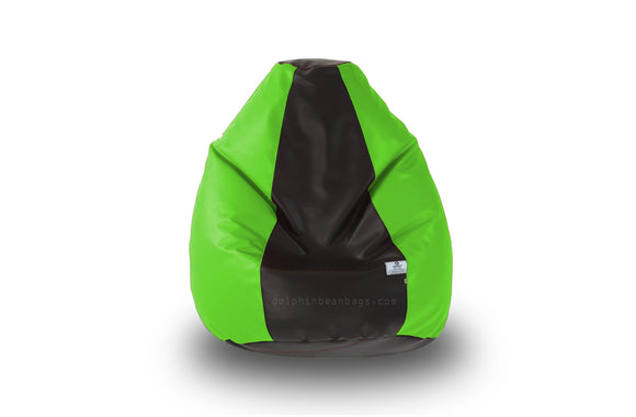 DOLPHIN Original M BEAN BAG-Black/F.Green-With Fillers/Beans