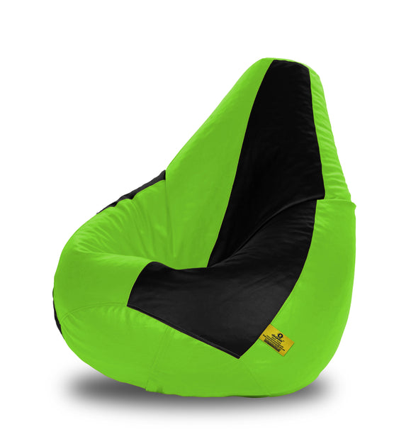 DOLPHIN XL BLACK&F.GREEN BEAN BAG-FILLED(With Beans)