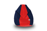 DOLPHIN Original M BEAN BAG-Red/N.Blue-With Fillers/Beans