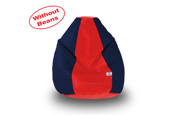 DOLPHIN M Regular BEAN BAG-Red/N.Blue-COVER (Without Beans)
