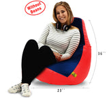 DOLPHIN XL RED&NAVY BLUE BEAN BAG-COVERS(Without Beans)