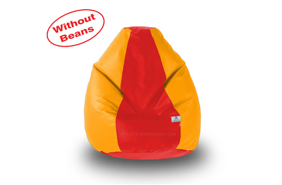 DOLPHIN S Regular BEAN BAG-Red/Orange-COVER (Without Beans)