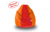 DOLPHIN M Regular BEAN BAG-Red/Orange-COVER (Without Beans)