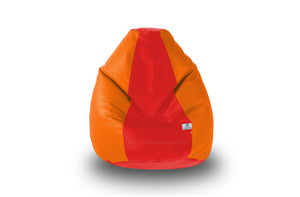 DOLPHIN Original M BEAN BAG-Red/Orange-With Fillers/Beans