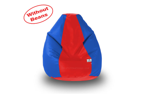 DOLPHIN M Regular BEAN BAG-Red/R.Blue-COVER (Without Beans)