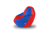 DOLPHIN L BEAN BAG-Red/R.Blue-COVER (Without Beans)