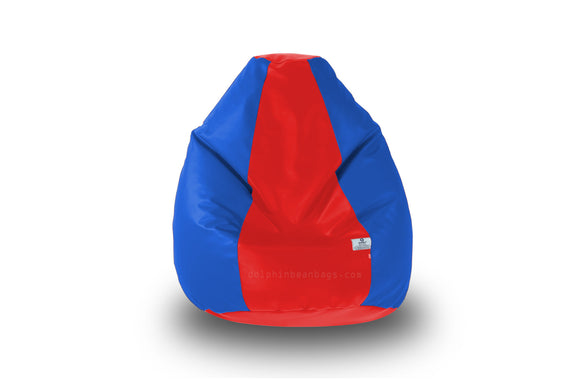 DOLPHIN Original M BEAN BAG-Red/R.Blue-With Fillers/Beans