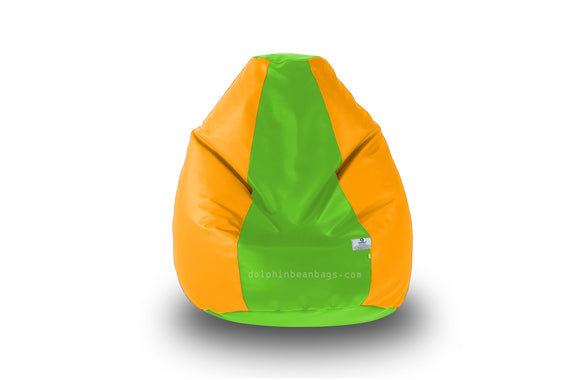 DOLPHIN Original M BEAN BAG-F.Green/Yellow-With Fillers/Beans