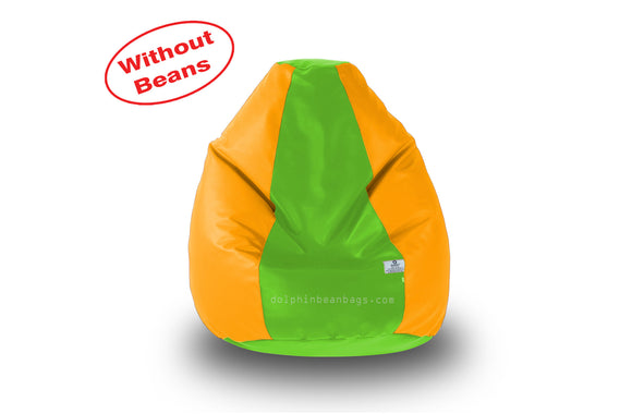 DOLPHIN M Regular BEAN BAG-F.Green/Yellow-COVER (Without Beans)