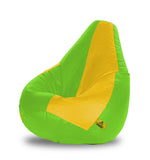 DOLPHIN XL F.GREEN&YELLOW BEAN BAG-FILLED(With Beans)