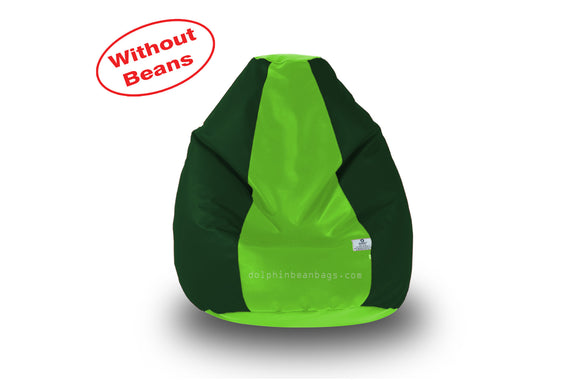 DOLPHIN M Regular BEAN BAG-F.Green/B.Green-COVER (Without Beans)
