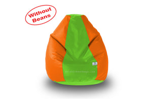 DOLPHIN L BEAN BAG-F.Green/Orange-COVER (Without Beans)
