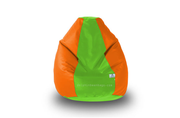 DOLPHIN Original M BEAN BAG-F.Green/Orange-With Fillers/Beans