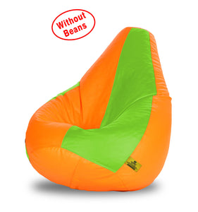 DOLPHIN XL F.GREEN&ORANGE BEAN BAG-COVERS(Without Beans)
