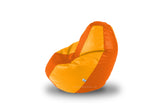 DOLPHIN Original M BEAN BAG-Orange/Yellow-With Fillers/Beans