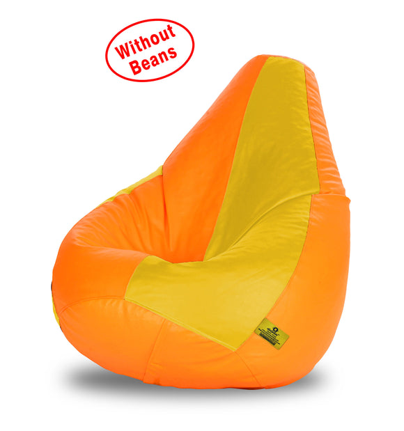 DOLPHIN XL ORANGE&YELLOW BEAN BAG-COVERS(Without Beans)