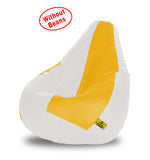 DOLPHIN XL WHITE&YELLOW BEAN BAG-COVERS(Without Beans)