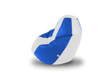 DOLPHIN L BEAN BAG-White/R.Blue-COVER (Without Beans)