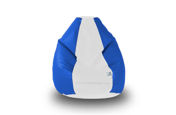 DOLPHIN Original M BEAN BAG-White/R.Blue-With Fillers/Beans