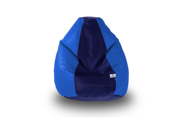 DOLPHIN Original M BEAN BAG-N.Blue/R.Blue-With Fillers/Beans