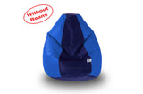DOLPHIN S Regular BEAN BAG-N.Blue/R.Blue-COVER (Without Beans)