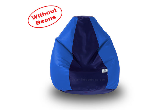 DOLPHIN M Regular BEAN BAG-N.Blue/R.Blue-COVER (Without Beans)