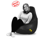DOLPHIN XXL BEAN BAG-BLACK-COVER (Without Beans)