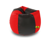 DOLPHIN XL BLACK&RED BEAN BAG-FILLED(With Beans)
