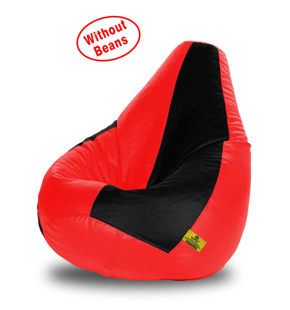 DOLPHIN XXL BLACK&RED BEAN BAG-COVERS(Without Beans)