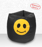 DOLPHIN XXL Bean Bag Black-Smiley-COVERS(without Beans)