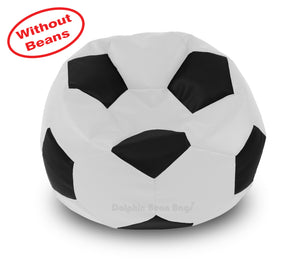 DOLPHIN XXL FOOTBALL BEAN BAG-BLACK/WHITE-COVER (Without Beans)
