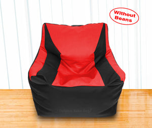 DOLPHIN XXL Beany Chair Black/Red-Cover (Without Beans)