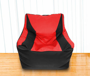 DOLPHIN XXL Beany Chair Black/Red-Filled (With Beans)