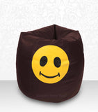 DOLPHIN XXL Bean Bag Brown-Smiley-FILLED (with Beans)