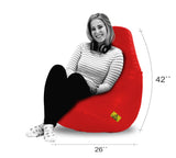 DOLPHIN XXL BEAN BAG-RED - Filled (With Beans)