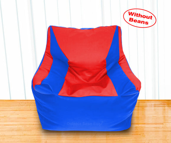 DOLPHIN XXL Beany Chair R.Blue/Red-Cover (Without Beans)