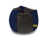 DOLPHIN XXL BLACK&N.BLUE BEAN BAG-FILLED(With Beans)