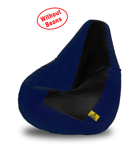 DOLPHIN XXL BLACK&N.BLUE BEAN BAG-COVERS(Without Beans)